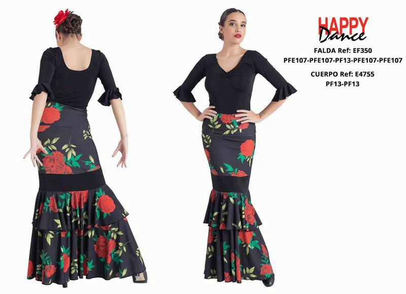 Happy Dance. Woman Flamenco Skirts for Rehearsal and Stage. Ref. EF350PFE107PFE107PF13PFE107PFE107
