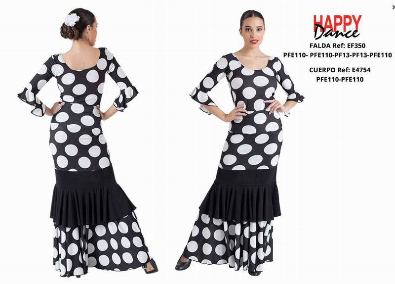Happy Dance. Flamenco Skirts for Rehearsal and Stage. Ref. EF350PFE110PFE110PF13PF13PFE110