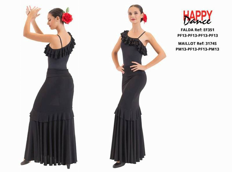 Happy Dance. Flamenco Skirts for Rehearsal and Stage. Ref. EF3351PF13PF13PF13PF13