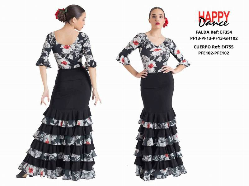 Happy Dance. Flamenco Skirts for Rehearsal and Stage. Ref. EF354PF13PF13PF13GH102