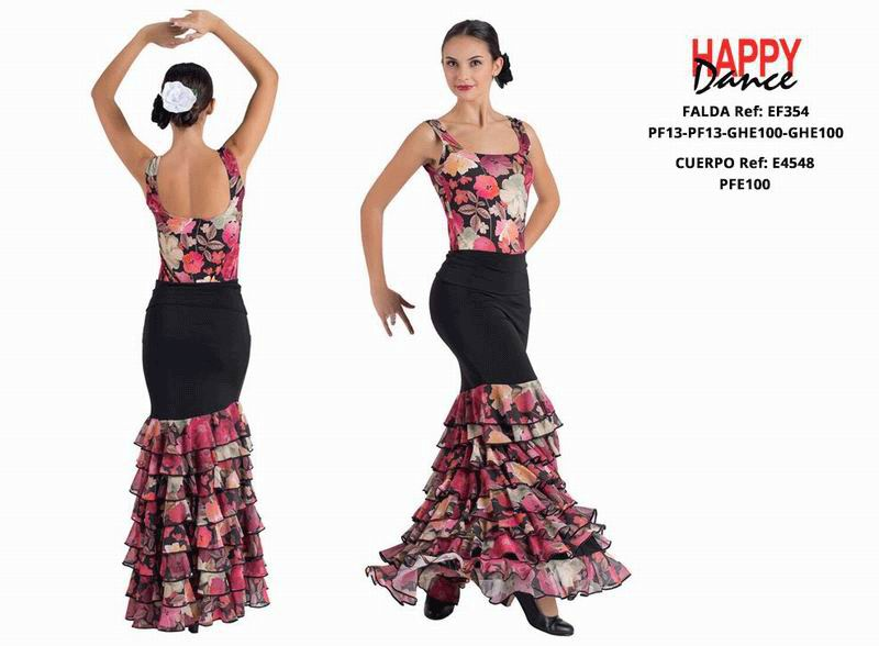 Happy Dance. Flamenco Skirts for Rehearsal and Stage. Ref. EF354PF13PF13GHE100GHE100