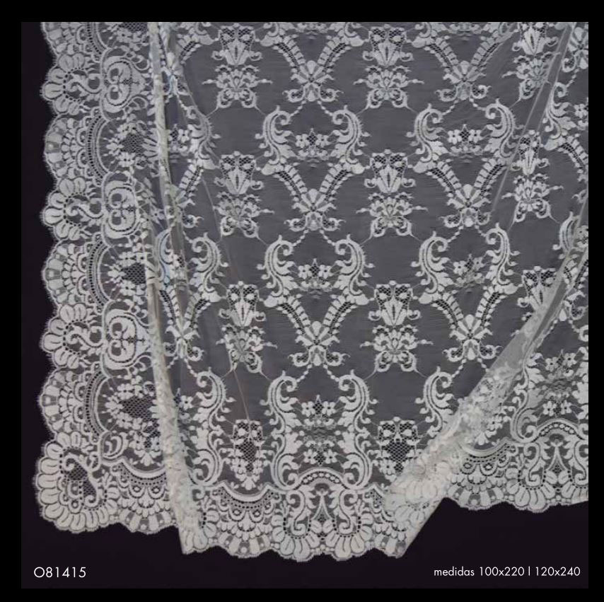 Black Spanish Veil (Shawl) ref.0814156209982NG. Measurements: 120x240 cm
