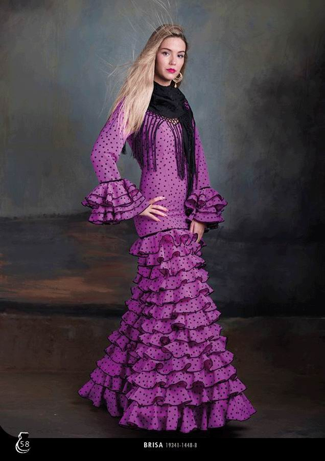 Flamenca Dress Brisa Malva. 2020