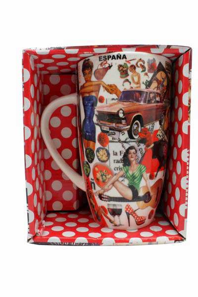 Tall Mug Retro Style Spain