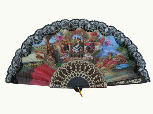 Fan With Flamenco and Bullfight Scenes ref. 2785