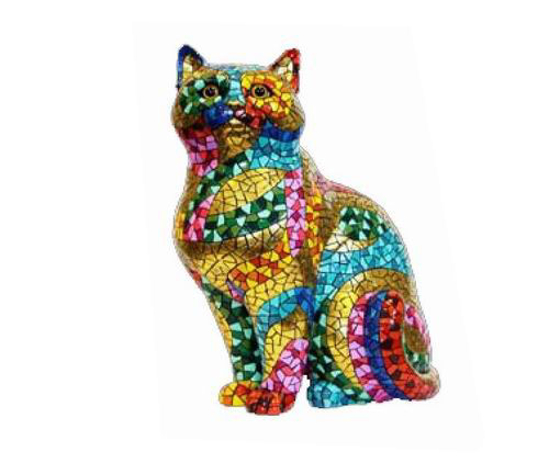 Trencadis Carnival Collection Cat. Gaudí. 18cm