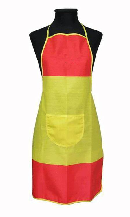 Spanish flag apron