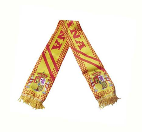 Spanish flag scarf. Sateen