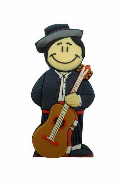 Pendrive Guitarrista. Memoria USB 8 Gb