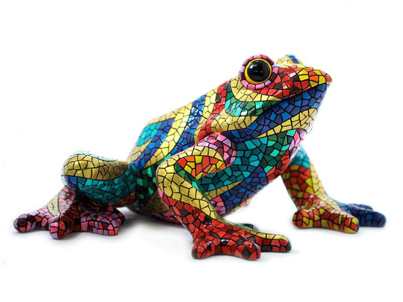 Grenouille en Mosaïque Collection Carnival. 18cm