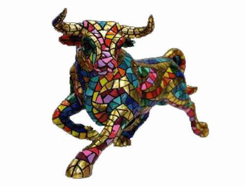 Trencadis Carnival Collection Mosaïc Bull. Gaudí. 32cm