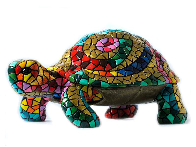Mosaic Turtle. Carnival. 14cm
