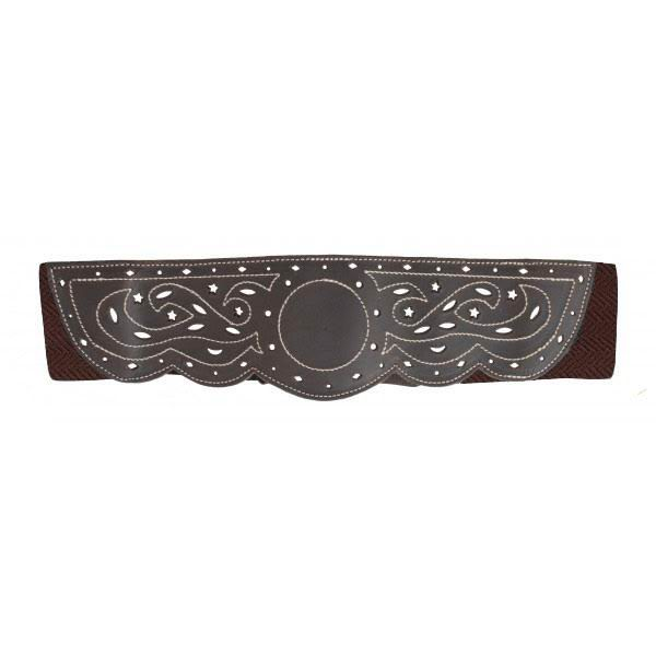 Stretchable and Openwork Leather with Backstitches Campero Belt for Women. Ref. 7002/80