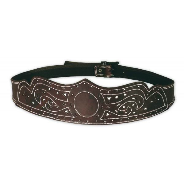 Openwork and Backstitched Leather Campero or Rociero Belt . Ref. 6001/80