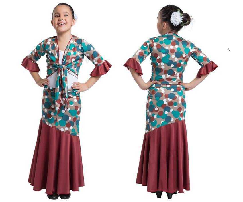 Flamenco Outfit for Girls by Happy Dance. Ref. EF036-E4152-1000