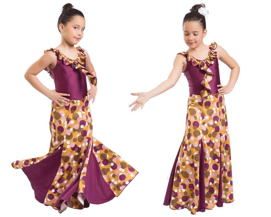 Tenue flamenca pour fillettes par Happy Dance. Ref. EF052-3096