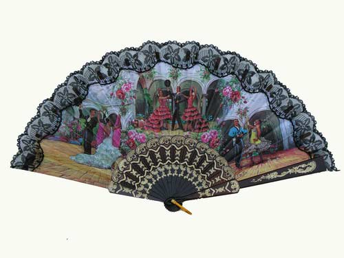 Fan With Flamenco and Bullfights Scenes ref. 2772