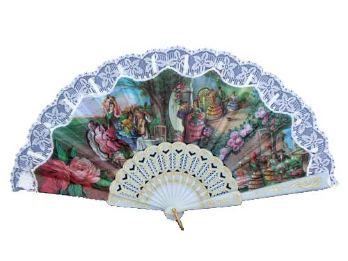 Fan With Flamenco and Bullfight Scenes ref. 2803