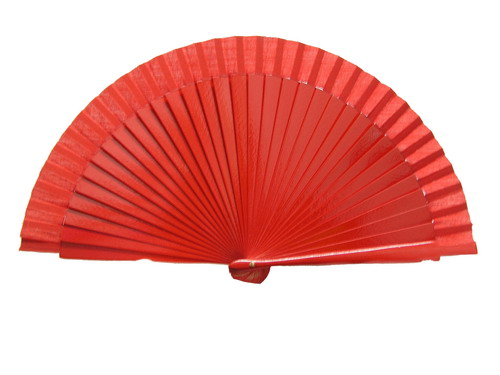 Plain Red Fan for Kids