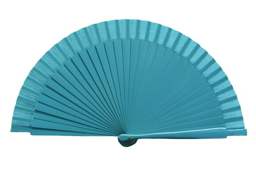 Plain blue fan for kids