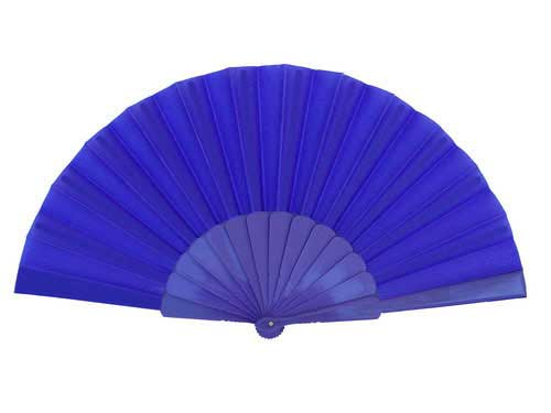 Plain fabric fan with plastic ribs