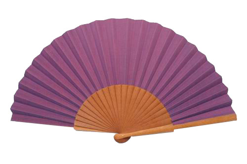 Purple Silk Fan