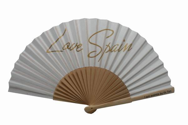 Wooden fan with 24 ribs