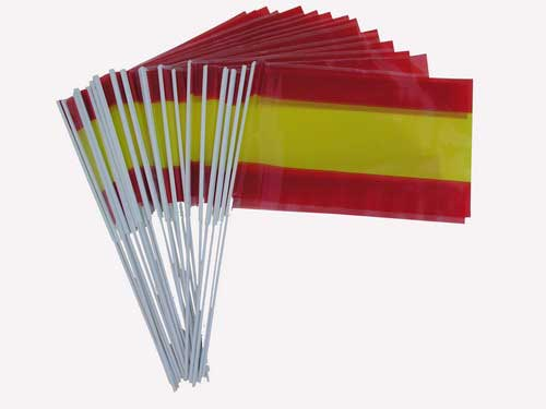 Spanish Flag with stick- 25 units
