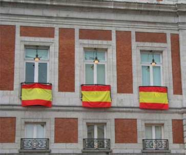Spanish Flag by meters (40 cm. large)