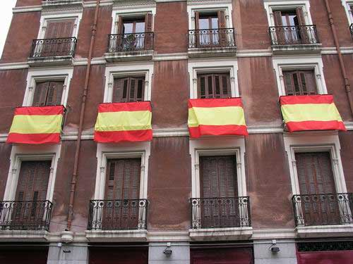 Spanish Flag by meters (80 cm. large)