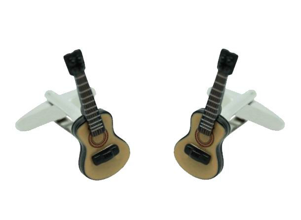 Gemelos Guitarra Flamenca en Color 3D