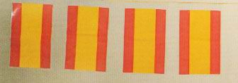 Spanish flags garland