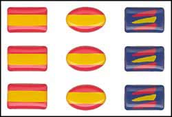 Spanish flag for mobile - Stickers