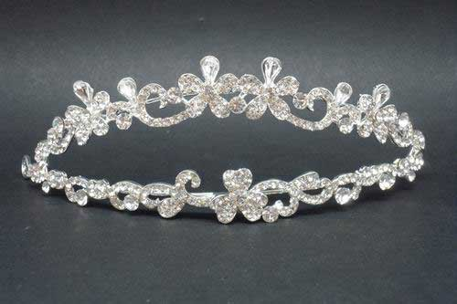 Tiara doble Strass. ref. 28299