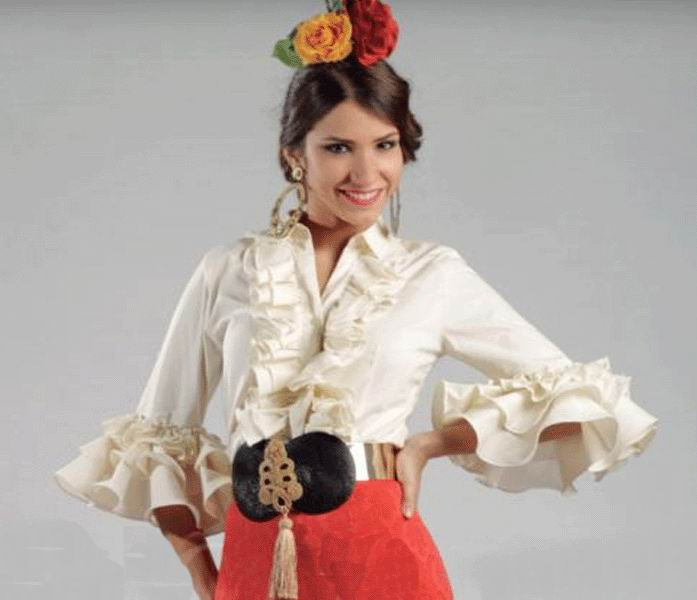 Ivory Flamenca Blouse Jaen Model