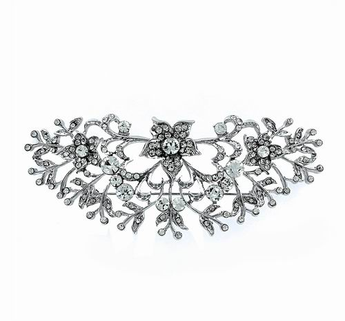 Silver Costume Jewelry Zirconia Brooch. Ref. 306