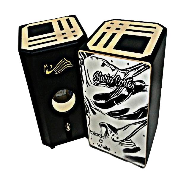 Flamenco Percussion Box (box-drum) By Mario Cortes. Mod. Black & White