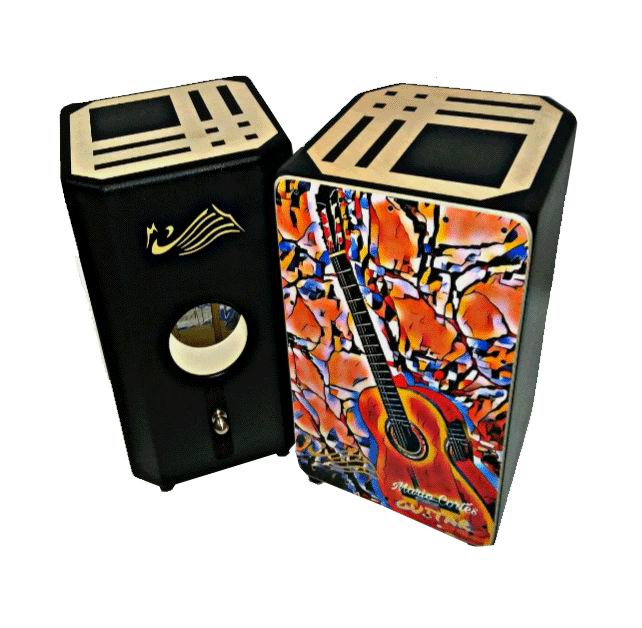 Flamenco Percussion Box (box-drum) By Mario Cortés. Mod. Guitar