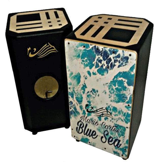 Flamenco Percussion Box (box-drum) By Mario Cortes. Mod. Blue Sea