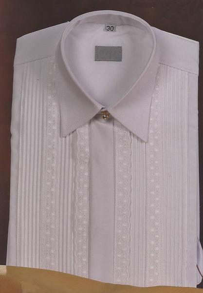 Andalusian Suit Shirt for Boy or Girl, Embroidered Strip and Entredeux