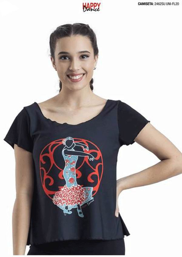 Flamenco T-Shirts for Rehearsal. Ref. 2462SUUNI-FL20