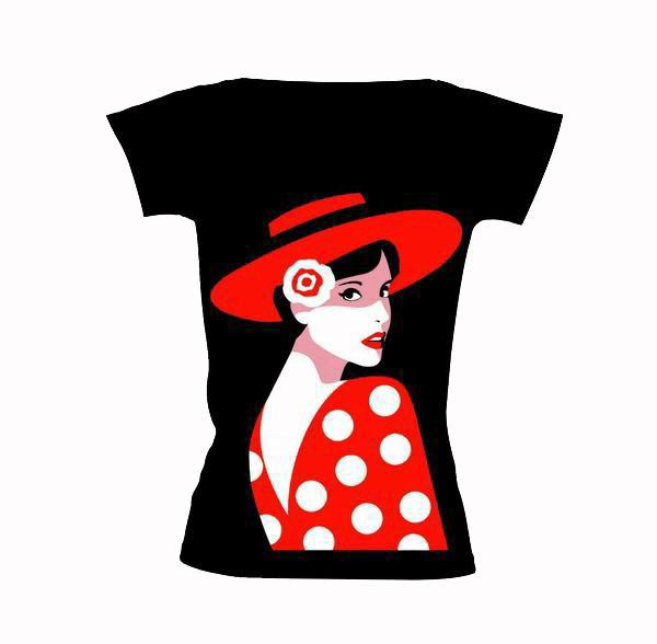 T-shirt Carmen de flamenco