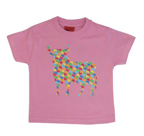 T-shirts for children. Osborne Bulls in colours. Pink