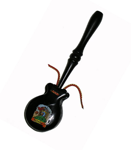 Souvenir Castanets With Stick