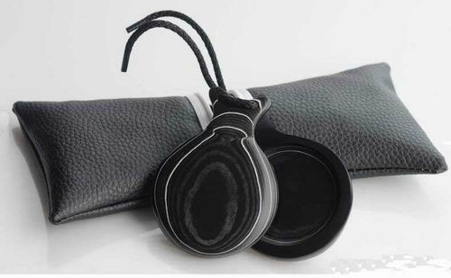 Black Canvas With White Grained Castanets for Professional