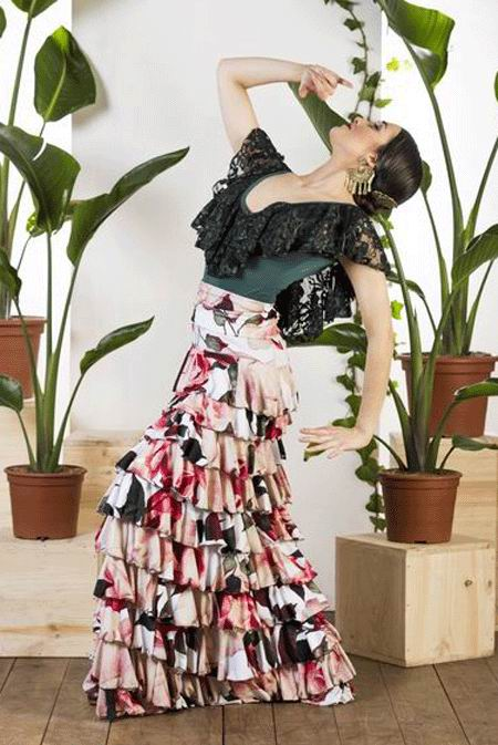 Flamenco Dance Skirt Bonares. Davedans