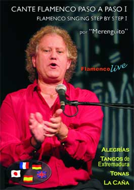 Flamenco singing step by step of Alegrías by Merenguito. Dvd