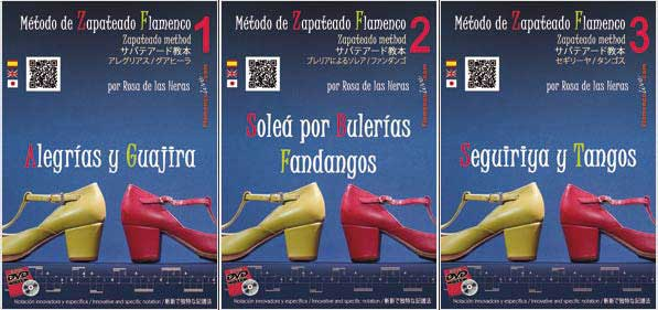 The Flamenco Zapateado Method. Rosa de las Heras. Pack 3 Volumes. DVD