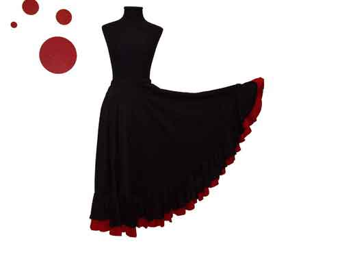 Flamenco Skirt With Double Flounce For Girls and Women