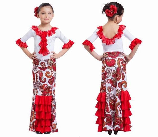 abe5e59e0 Faldas de flamenco para niñas - FlamencoExport